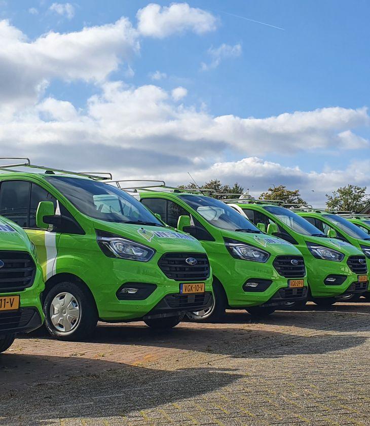 Nieuw wagenpark zorgt voor volledige nieuwe groene uitstraling van Instain Ter Apel