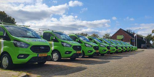 Nieuw wagenpark zorgt voor volledige nieuwe groene uitstraling van Instain Ter Apel - Instain Installatiebedrijf